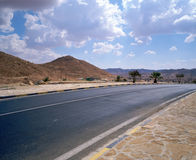 HighWay to sunny future. Modern Highway in Tunisia. Good final page for presentation Stock Photography