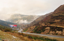 Highway to the Tibetan village in Sichuan, China Stock Photo
