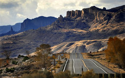 Highway to Yellowstone Outside Cody, Wyoming Royalty Free Stock Image