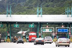 Highway Toll. Collection booths in Malaysia Stock Photos