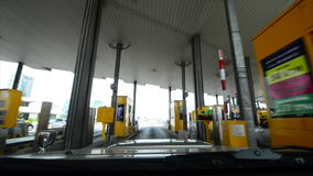 Highway Toll Booth stock video
