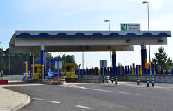 Highway Toll Gate Royalty Free Stock Photography