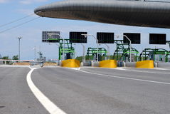 Highway toll gate Stock Image