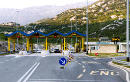 Highway toll gate on croatian road Royalty Free Stock Image