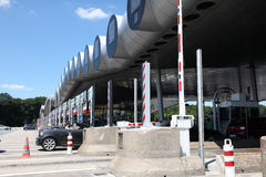 Highway toll gate in France Royalty Free Stock Image