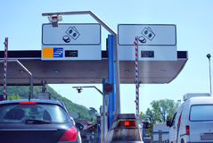 Highway toll payment Stock Images