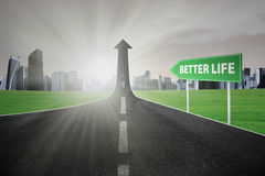Highway toward better life Royalty Free Stock Image