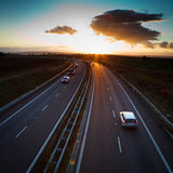 Highway traffic Royalty Free Stock Photos