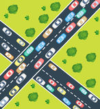 Highway traffic Royalty Free Stock Image