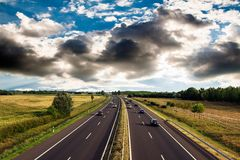 Highway traffic Stock Photography