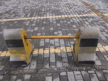 Highway traffic barrier Royalty Free Stock Photo