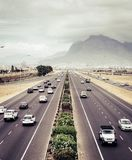 Highway traffic in Cape Town royalty free stock photo