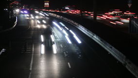 Highway Traffic Cars at Night Time Lapse 4k stock footage