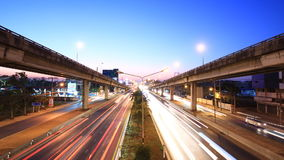 Motorway time lapse. At twilight stock video footage