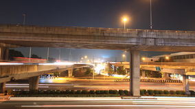 motorway traffic at night stock video
