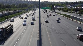 Highway traffic stock video footage