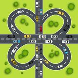 Highway traffic illustration Stock Image