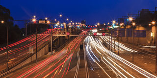 Highway Traffic Long blur pan Royalty Free Stock Photography