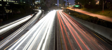 Highway traffic in Los Angeles Royalty Free Stock Image