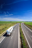 Highway traffic on a lovely summer day Royalty Free Stock Photo