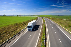 Highway traffic on a lovely summer day Royalty Free Stock Photos