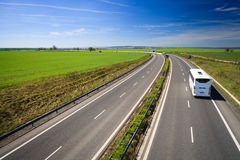 Highway traffic on a lovely summer day Stock Photography