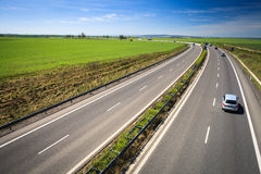 Highway traffic on a lovely, sunny day Stock Photography
