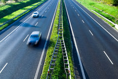 Highway traffic, motion blur Royalty Free Stock Photography