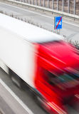 Highway traffic - motion blurred cars on a highway Stock Photo