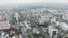 Highway traffic motion in the day time. The view from the top, Bangkok Thailand. City scape. stock video