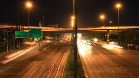 Highway traffic multiple lane, time lapse Stock Images