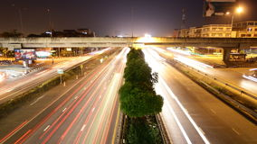 Highway traffic multiple lane, time lapse stock video