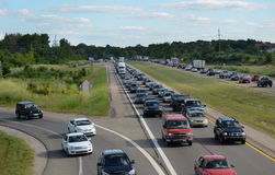 Highway traffic near Ann Arbor, MI Stock Photography