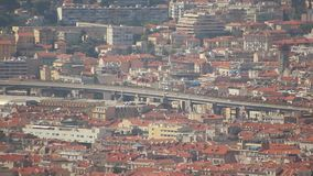 Highway Traffic in Nice, France stock footage