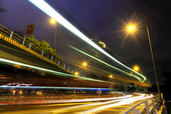Highway traffic at night Royalty Free Stock Image