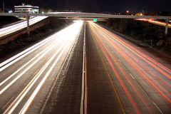 highway traffic at night Stock Images