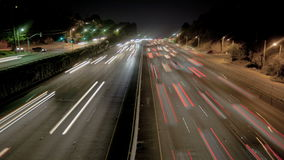 Highway Traffic at Night stock video footage