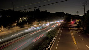 Highway Traffic at Night stock footage