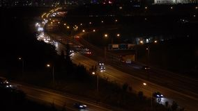 Highway traffic at night, Istanbul,Turkey. Highway traffic at night, Atasehir, Istanbul,Turkey/4K Video stock footage