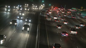 Highway Traffic at Night stock video