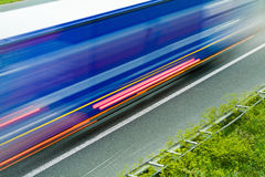 Highway traffic, speed and blurred motion Stock Images