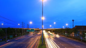 Highway traffic time lapse Royalty Free Stock Image