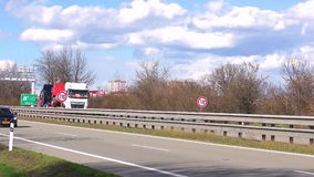 Highway traffic time lapse speed 20x. Cars and Trucks  UHD 2160 4K stock video footage