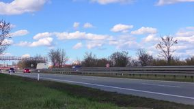 Highway traffic time lapse speed 20x. Cars and Trucks  UHD 2160 4K stock video