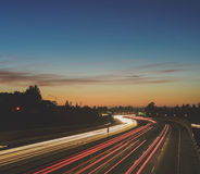 Highway Traffic Time Lapse Stock Photography