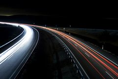 Highway traffic trails  Royalty Free Stock Image