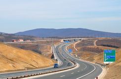 Highway transportation with cars Royalty Free Stock Photography