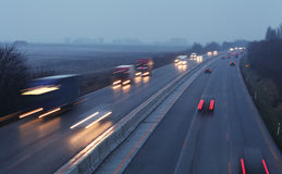 Highway transportation. At a night Stock Photography