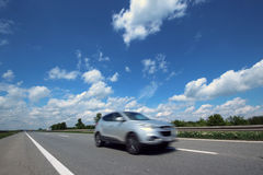 Car on Highway Royalty Free Stock Images
