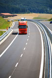 Highway and trucks royalty free stock photo